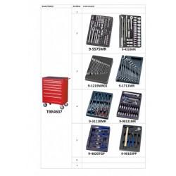 TBR4607-X-189 Instrumentu kaste-ratiņi 189 vien. komplekts